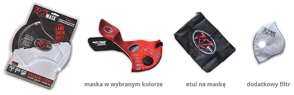 Zawartość opakowania maski RZ MASK
